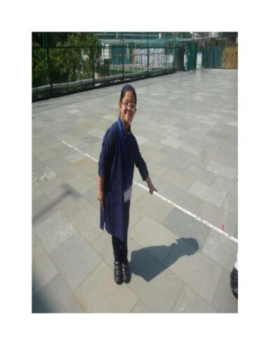 grade 1 student explored about shadow
